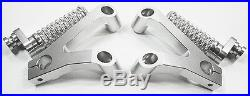 Silver Ducati 749 999 Rearsets Rearset Foot Pegs Footpeg CNC Billet Aluminum