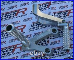 Silver Rearsets Rear Set Foot Pegs Pedal For Ducati 749 999 CNC Billet